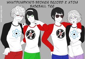 HS - Broken Record and Atom Baseball Tee by feshnie