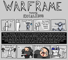 Warframe - Excalibur by LavenderComics