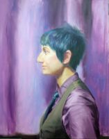 Blue in purple by saret