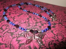 Adreanna's Butterfly Charm Necklace by undeadxsiren
