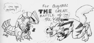 The Great Battle of Mr. Kitty by frisbii