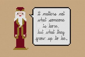 Quoteables - Dumbledore cross stitch pattern by avatarswish