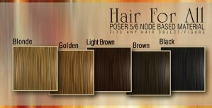 Hair for All - Poser 5+ Mats by giskard