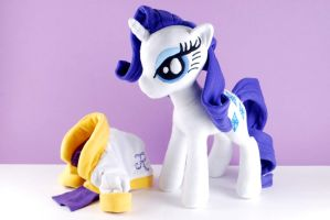 Rarity Pony Plush at the Spa by Eveningarwen