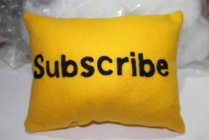 Youtube Subscribe Plushie by vklolita