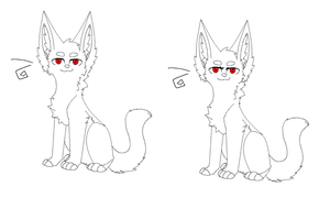 Female and male Cat Base by smerup100
