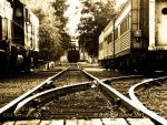 tracks, Old Sacramento by rbeebephoto