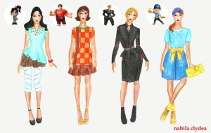 Wreck It Ralph Fashion by nabilaclydea