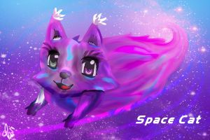 Space Cat by lucraciamichaelis66