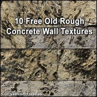 Free Old Rough Concrete Wall Textures Pack by ElvenStock