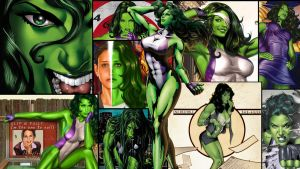 She-Hulk Wallpaper by DragonRose313