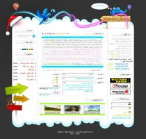 Arabic Web'2' Interface by mfdes
