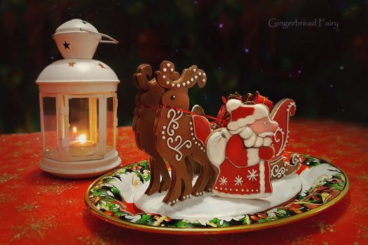 Gingerbread Sleigh and Ded Moroz by GingerbreadFairy