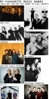 My Favourite Bands by AdrenalineRush1996