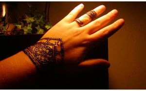 Henna Flower Band by inkeyling