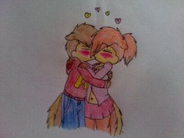 Alvin and Brittany kiss by EmoGirl003