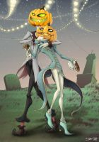 Pumpkin Brothers: Jack and Jill by Z-Moo-cow