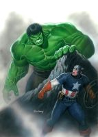Hulk Finds Cap by Habjan81