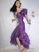 Purple Dress 6 by cyber-stock