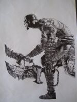 God of War drawing by Chriluke