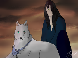 Lupine and Ciar by Whitelupine