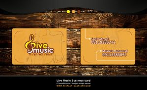 Live music business card by arsalan-design