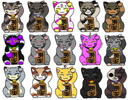 Maneki neko buddies by 2852-8139-3580