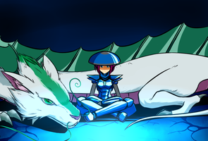 Mysterious Blue Armor pt. 2 by Suweeka