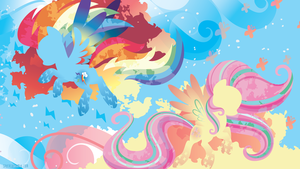 Rainbow Power: Rainbow Dash and Fluttershy by SambaNeko