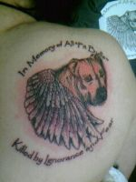 My Pitbull Tattoo by RavensGrrl