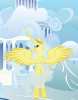 Princess Olympic Sunrise : In Cloudsdale by Winter-Mist