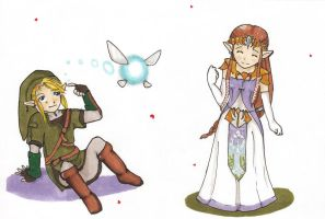 Link and Zelda by PrincessViKi