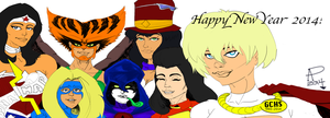 DC Female Heroes New Year 2014 (Flat Colors) by SirDNA109