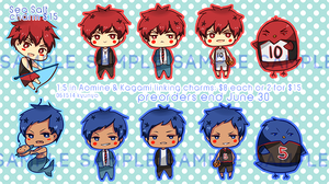Aomine and Kagami 1.5 Inch Charms Preorder by kyunyo