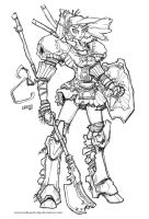 Warrior Sketchwork 1  2011 by Warhound-CMP