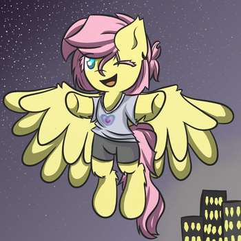 Fluttershy the Hippie by pinkhatsyndrome