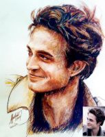 rob pattinson portrait by lildevilme