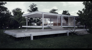 Test Farnsworth House by the-f-render