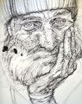 Old Man in Ink- Sketch by IsabelleMaria
