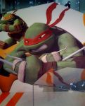 Mikey and Raph Close Up by DeathGoddess1995
