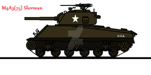 M4A3(75) Sherman by thesketchydude13