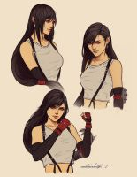 Tifa Lockheart sketches by Zolaida