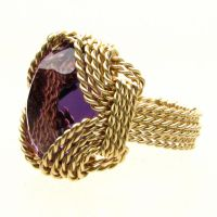 What do you think Wire Wrap Gold  Amethyst Ring by JandSGems
