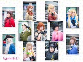 Nyotalia cosplay -Team Collage- by Rii-ki-AruxKol