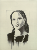 Portrait with marker by talhakabasakal
