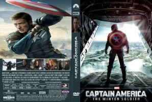 Captain America The Winter Soldier dvd cover by SteveIrwinFan96