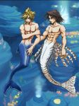 Leon and Cloud in Atlantica by Kingdom-Hearts-Yaoi