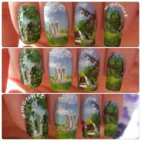 Shrek nail art by amanda04