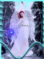 Christmas Angel   For Terry By Agnewart by mickeyrony