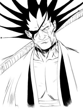 W.I.P. 004. Kenpachi: Black by Dreamerwstcoast